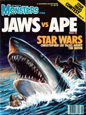 famous monsters jaws vs ape star wars