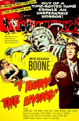 I BURY THE LIVING, Richard Boone, 1958