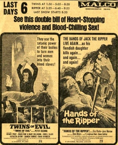twins of evil + hands of the ripper