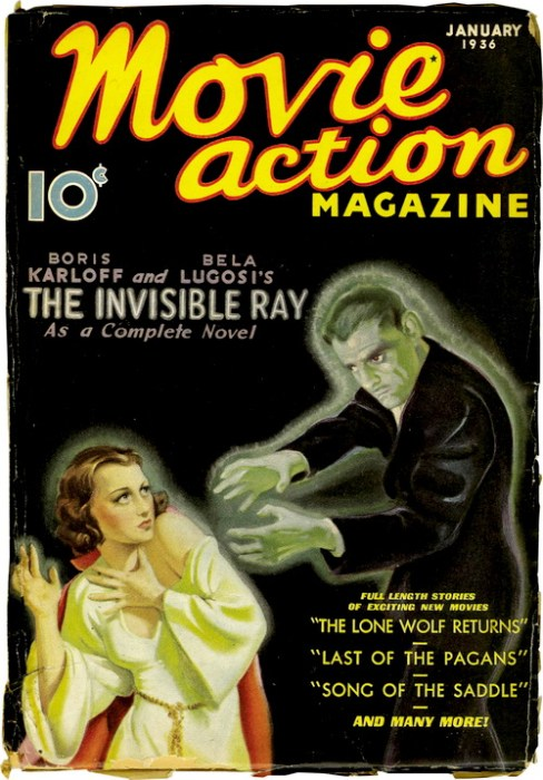 movie action magazine invisible ray karloff lugosi
