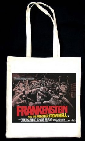 frankenstein and the monster from hell tote bag