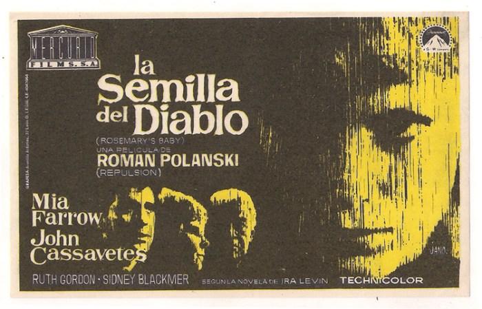 rosemary's baby spanish poster