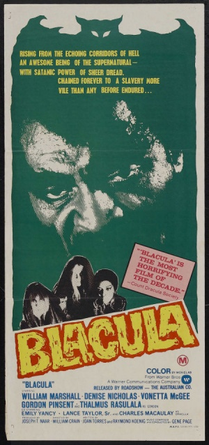 Blacula Australian poster