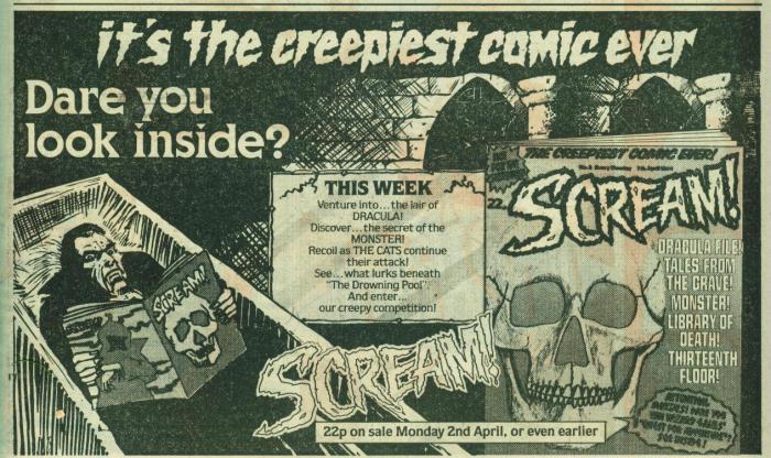 Scream Comic ad 6
