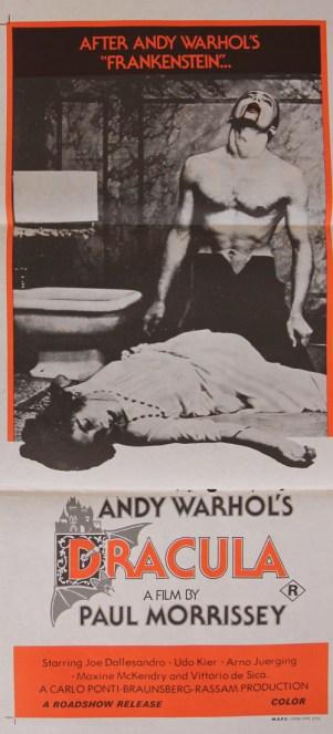 andy warhol's dracula australian poster