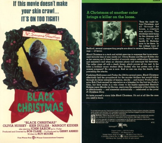 black christmas 1974 vhs front & back