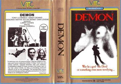 demon larry cohen UK VTC VHS