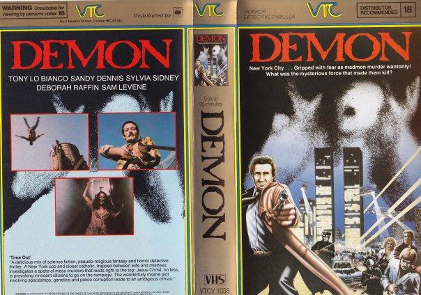 demon larry cohen VTC VHS sleeve