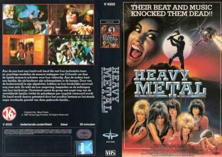heavy metal blood tracks 1985 VHS sleeve