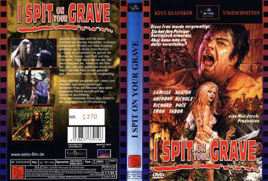 I spit on your grave Astro German DVD sleeve