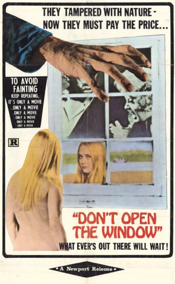 don't open the window poster4