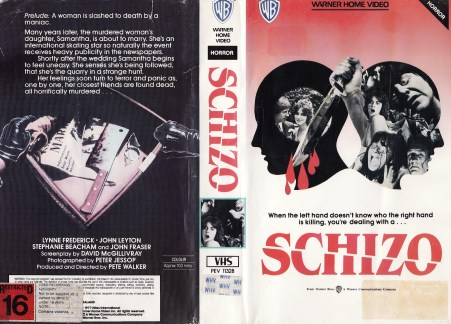 Schizo warner home video VHS