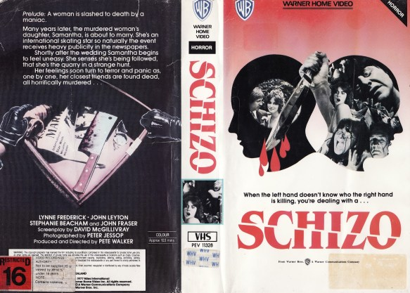 Schizo warner home video VHS
