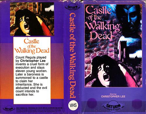castle of the walking dead saturn vhs sleeve