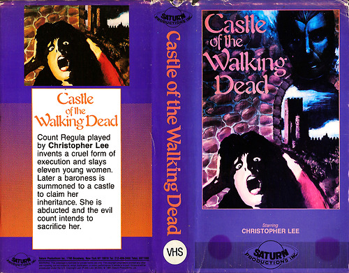 castle of the walking dead saturn vhs sleeve
