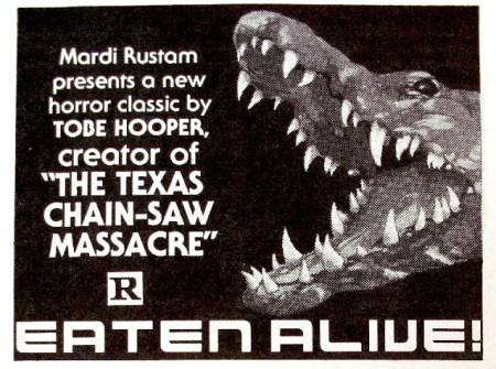 eaten alive mardi rustam tobe hooper texas chain saw ad mat