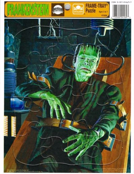 Frankenstein-frame-tray puzzles (Golden:Western Publishing 1991