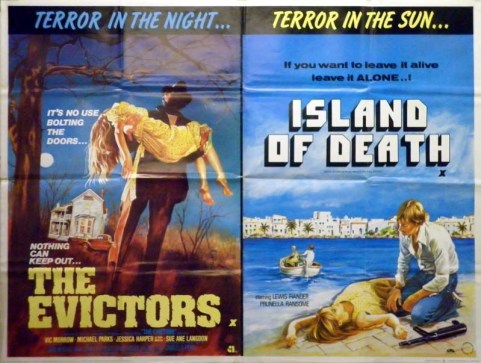 the evictors + island of death british quad poster