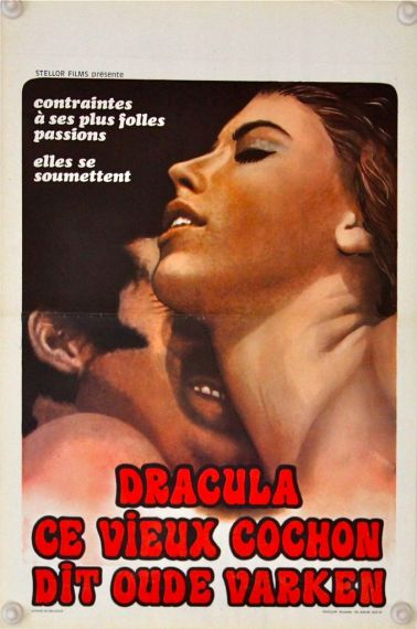 Dracula The Dirty Old Man Original Belgium Poster 1969