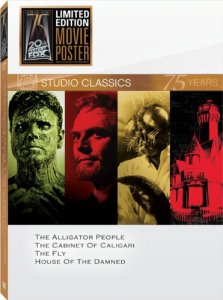 alligator people + the fly + cabinet of caligari + house of the damned