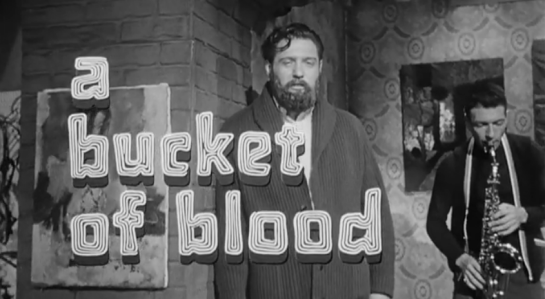 bucket of blood title screen grab