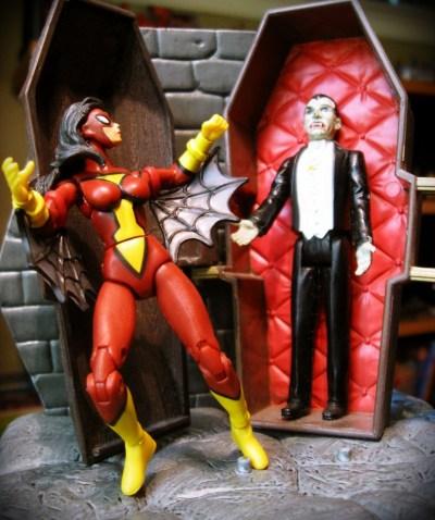 Spider Woman vs Dracula