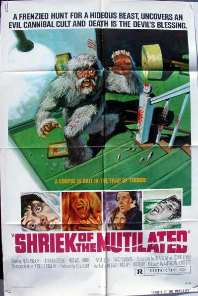 Shriek-of-the-Mutilated-Michael-Findlay-1974-American-Films-poster