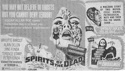 spirits of the dead + undertaker and his pals + the embalmer ad mat