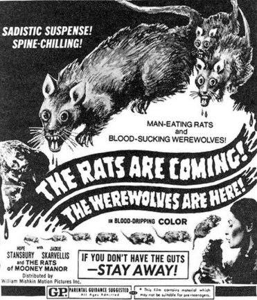 The Rats Are Comings The Werewolves Are Here - Andy Milligan - 1972 - Cartel - Covers - Video - Posters002