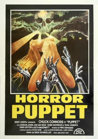 horror puppet tourist trap poster