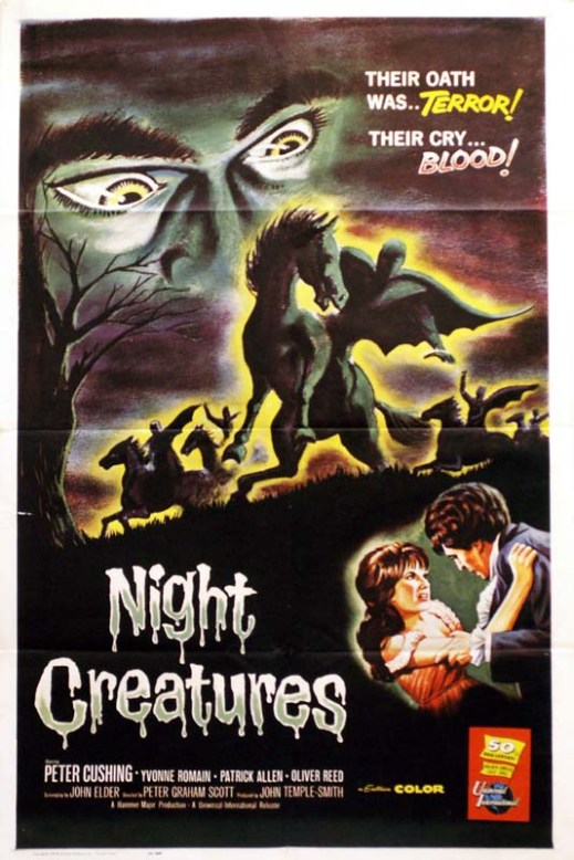 night creatures aka captain clegg hammer poster