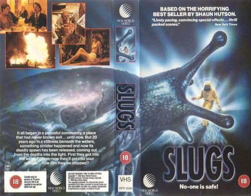 slugs new world video british VHS sleeve