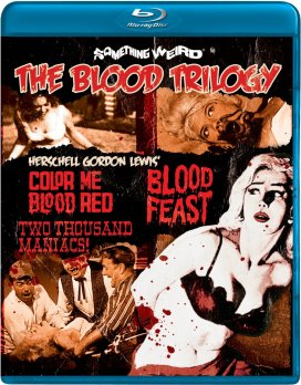 The Blood Trilogy Blood Feast Two Thousand Maniacs! Color Me Blood Red Blu-ray