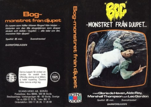 bog swedish vhs front & back