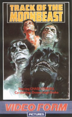 Track Of The Moonbeast British VHS Front