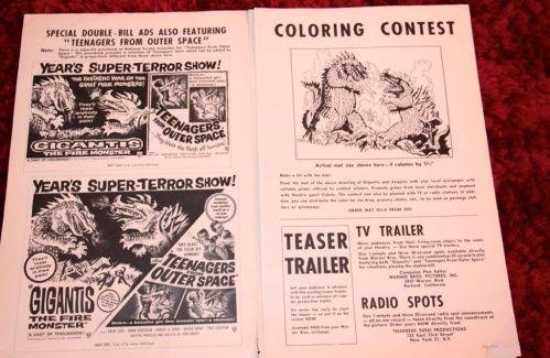 Gigantis (AKA Godzilla Raids Again) Original Pressbook (1959) (Inner 2)