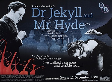 BFI Poster for Rouben Mamoulian's Dr Jekyll and Mr Hyde (1931)