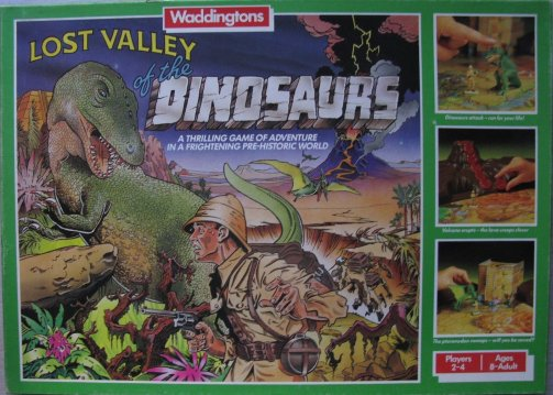lost valley of the dinosaurs board game 1985 waddingtons