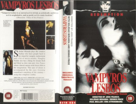 vampyros lesbos redemption vhs sleeve