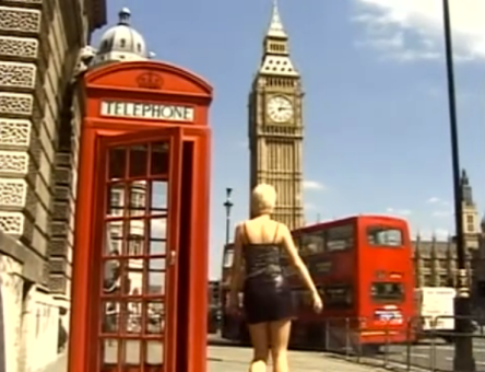 erotic werewolf in london red telephone box big ben london bus