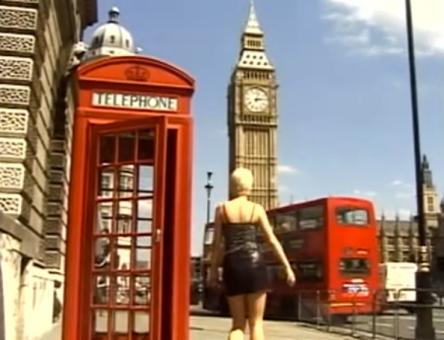 erotic werewolf in london red telephone box big ben london bus