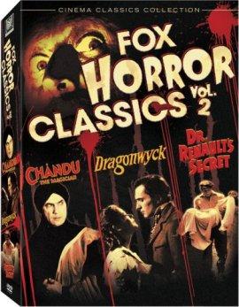 fox horror classics vol. 2 dvd chandu dragonwyck dr. renault's secret