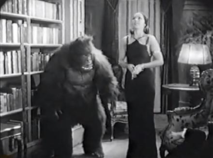 house of mystery 1934 ape and hindu woman chanda