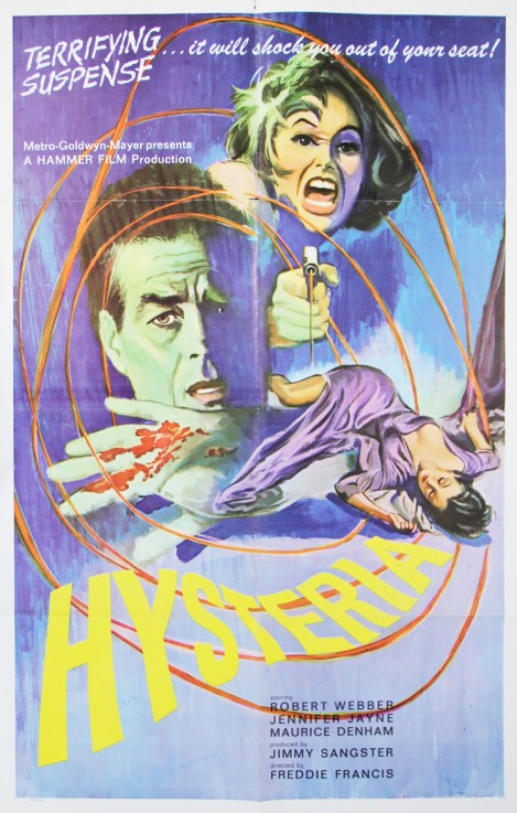 Hysteria Hammer MGM poster