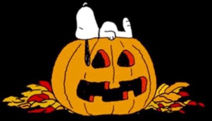 Peanuts Halloween pumpkin