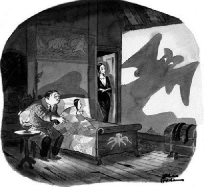 addams family shadow puppets
