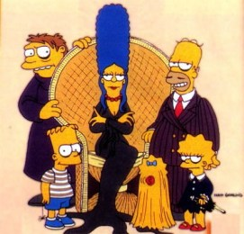 The-Simpsons-as-The-Addams-Family