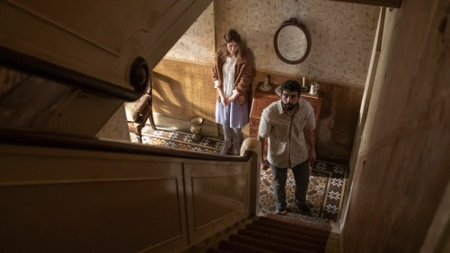 Carla Juri and Alec Secareanu