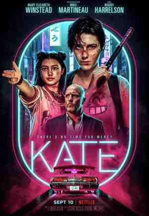 Kate-movie-film-action-revenge-thriller-2021-Netflix-review-reviews-Mary-Elizabeth-Winstead-Miku-Martineau-Woody-Harrelson-poster