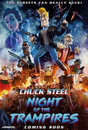 chuck-steel-night-of-the-trampires-movie-film-animated-action-horror-2018-British-review-reviews-poster